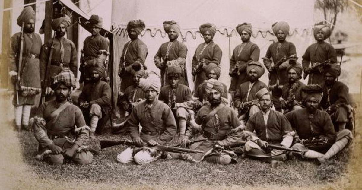 Indian soldiers forming the escort for the Gilgit Mission