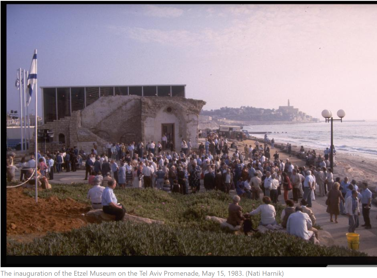 The inauguration of the Etzel Museum on the Tel Aviv Promenade, May 15, 1983.