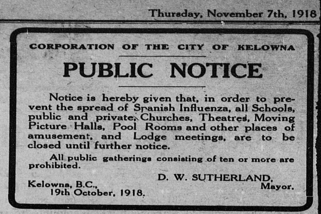 The Spanish Flu Pandemic of 1918