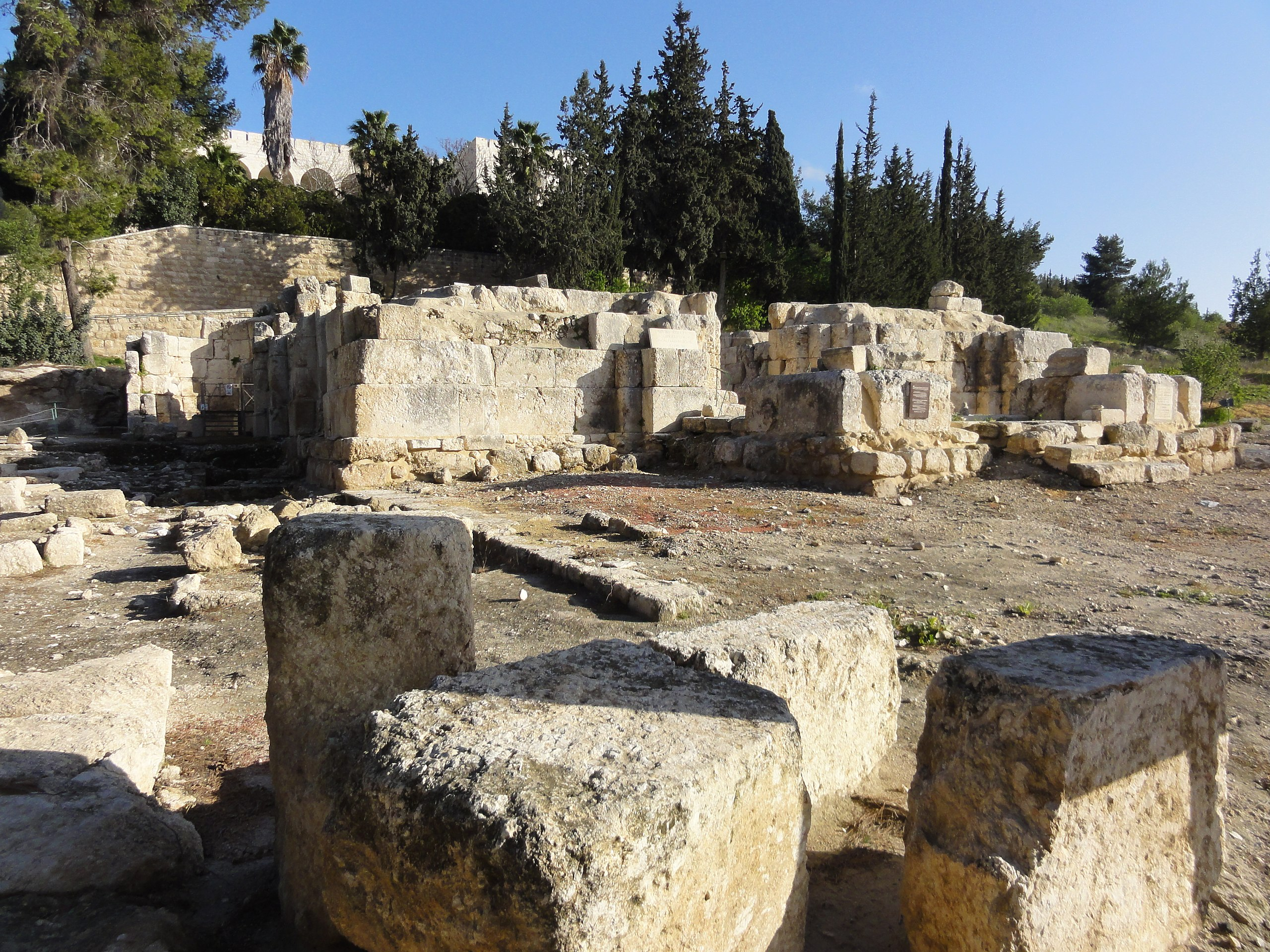 The site of Emmaus-Nicopolis, called 'Amwas' by the Arabs. The plague of Amwas first struck the Muslim Arab troops encamped there before spreading across Syria–Palestine and affecting Egypt and Iraq