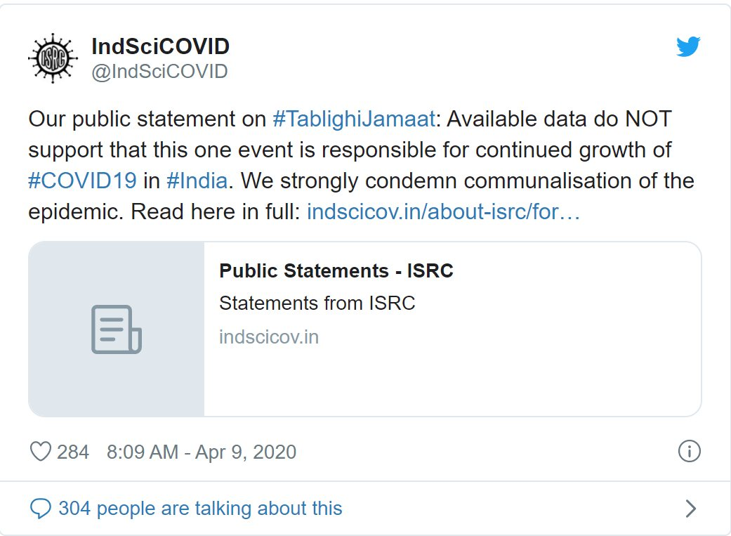 No Evidence to Suggest Tablighi Role in Continuous Rise in Covid Cases: Scientists