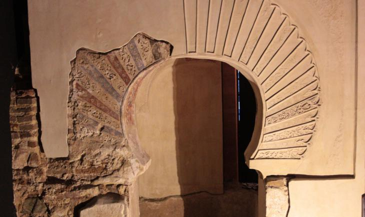 Remains of a mihrab niche in the cellar of San Juan de Dios church in Ibn Arabi′s hometown of Murcia. At the time of Ibn Arabi′s birth in 1165, it was the site of Murcia′s principal mosque