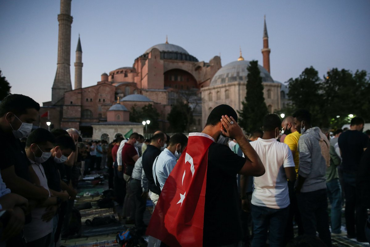 The court ruling has overturned a historic injustice; Hagia Sophia was already a mosque