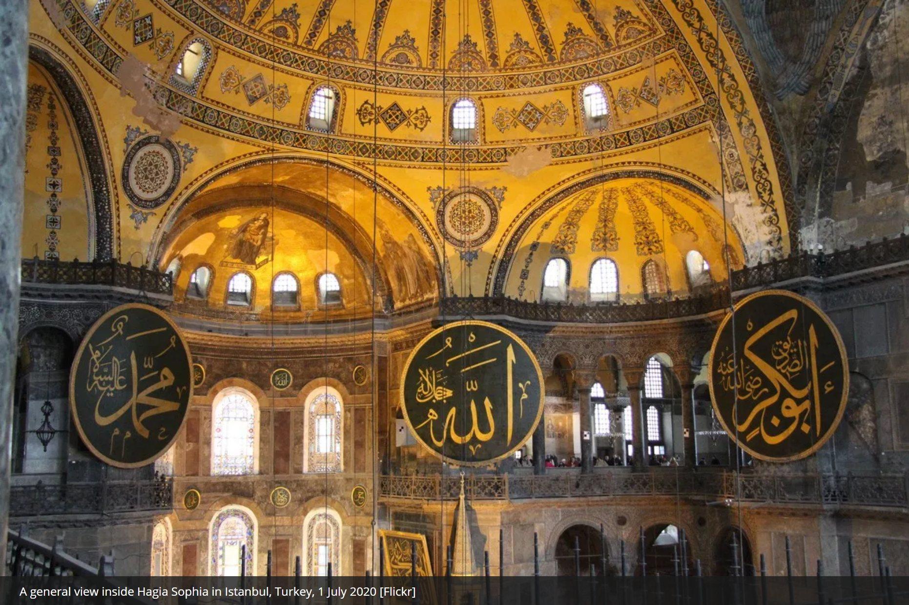 Turkey overruled 'radical decision' that made Hagia Sophia a museum