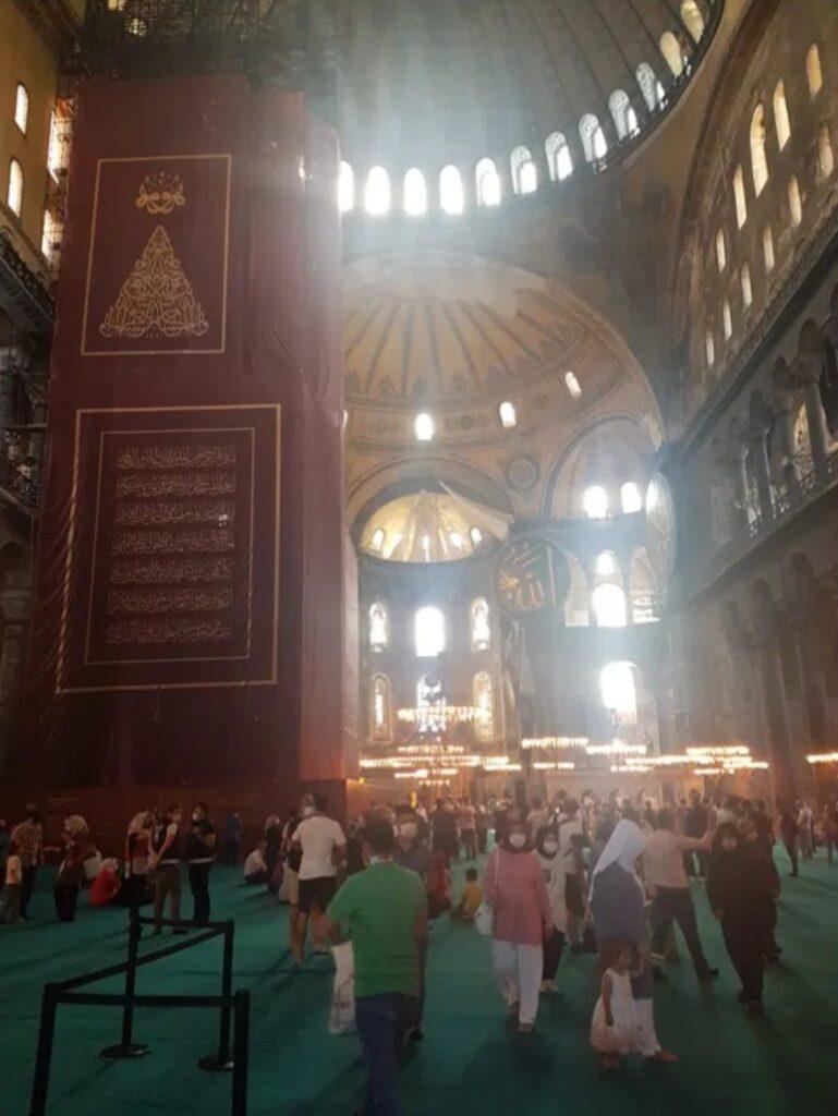 Inside the Hagia Sophia Grand Mosque, 26/07/2020