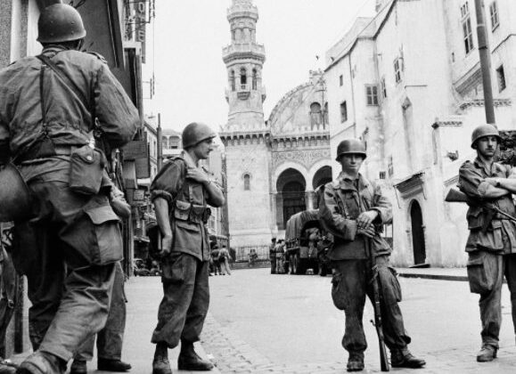 French troops in Algiers in 1956