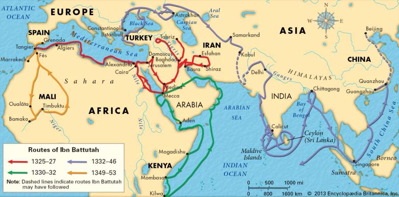 Abu 'Abdallah ibn Battuta رَحِمَهُ ٱللَّٰهُ – the greatest traveler of premodern times