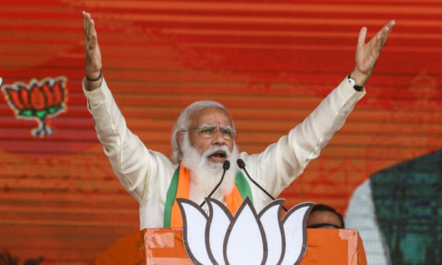 Narendra Modi boasted of the size of the crowds he would address on the campaign trail.