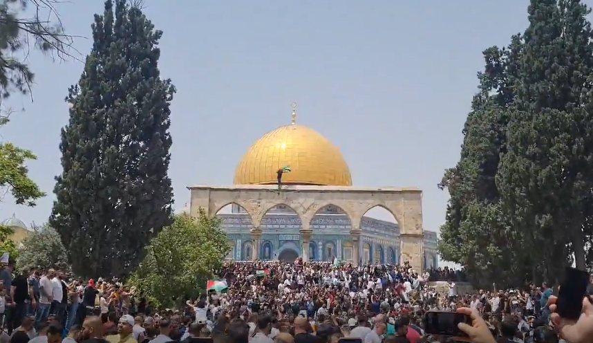 Masjid-al-Aqsa on Friday 21 May 2021
