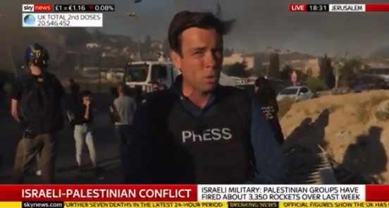 """Sky News Middle East Correspondent : """"I saw a lot more instances of entirely unnecessary, provocative behavior by Israeli police/military today"""""""