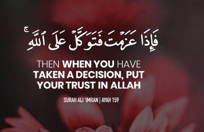 Trusting in Allah's Decree